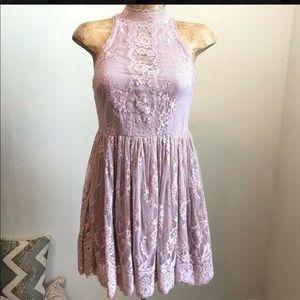 Free people lace lilac dress